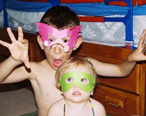 kids in masks