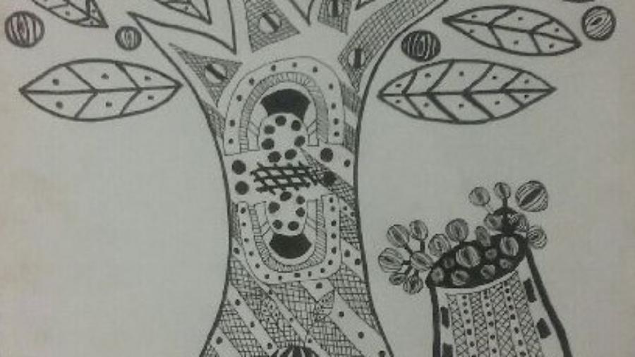 A Tiwi artists representation of  the Pinyama Evaluation Framework