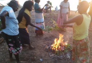 Tiwi women and the traditional healing smoking ceremony