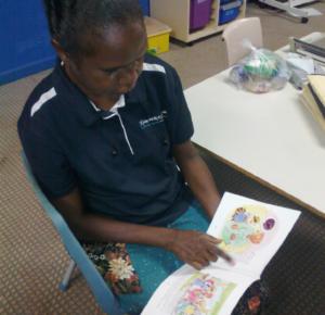 Patricia reading