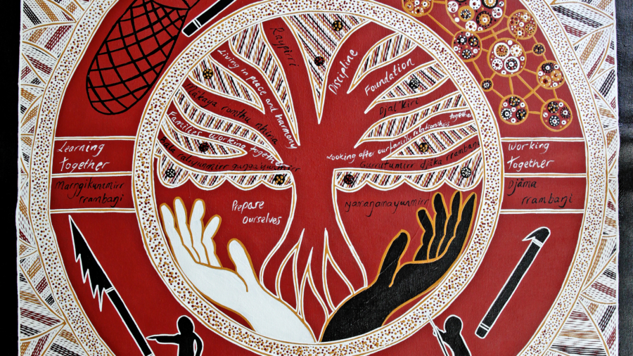 The painting created by Yolngu communities for FAST NT